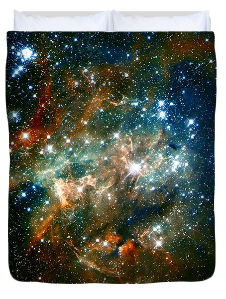 Deep Space Star Cluster Duvet Cover by Jennifer Rondinelli Reilly - Fine Art Photography