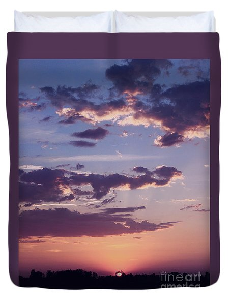 Deep Sunset Duvet Cover by Erica Hanel