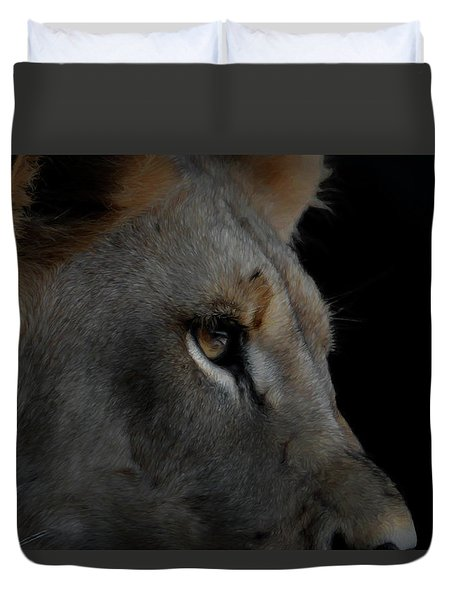 Duvet Cover featuring the digital art Deep Thought by Ernie Echols