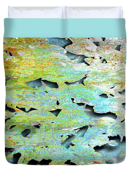 Duvet Cover featuring the mixed media Deep by Tony Rubino