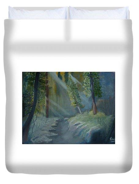 Deep Woods Dry Gulch Duvet Cover