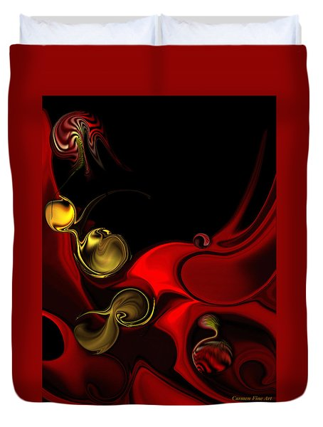 Duvet Cover featuring the digital art Deeper Reappearance Of High Energy by Carmen Fine Art