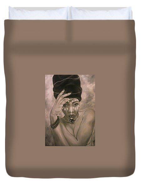 Deeply Rooted Duvet Cover by Jenny Pickens