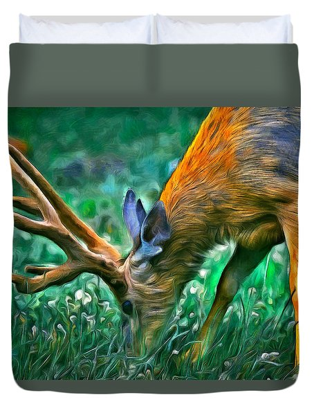 Deer At Lunch - Pa Duvet Cover