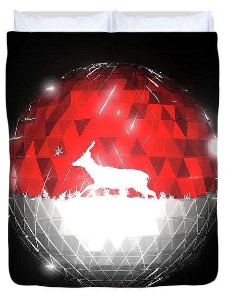 Deer Bauble - Frame 10 Duvet Cover