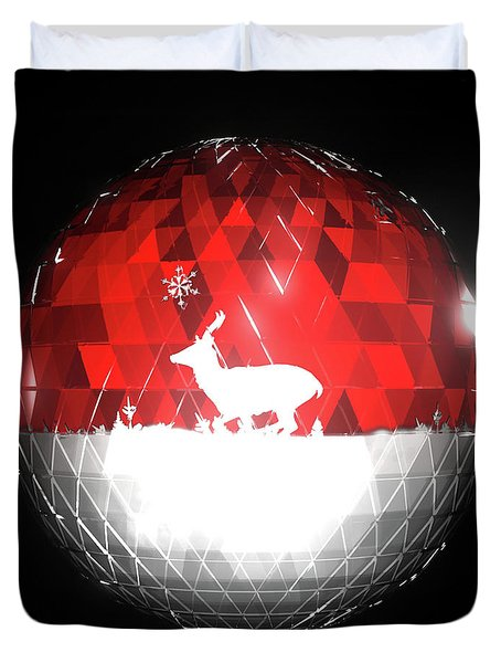 Deer Bauble - Frame 103 Duvet Cover
