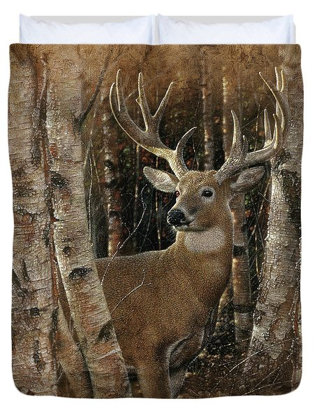 Deer - Birchwood Buck Duvet Cover