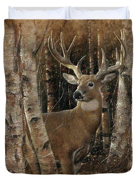 Deer - Birchwood Buck Duvet Cover