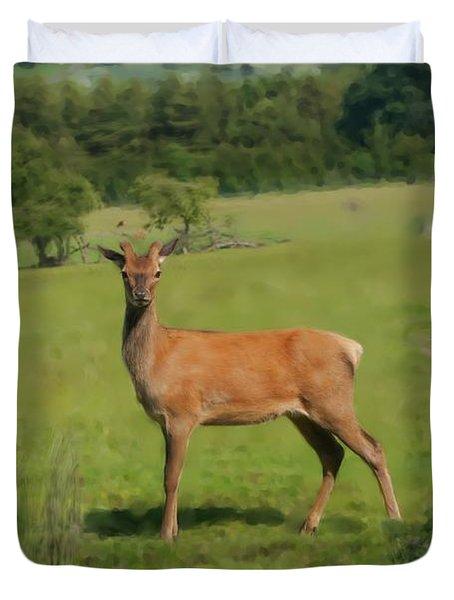 Deer Calf. Duvet Cover