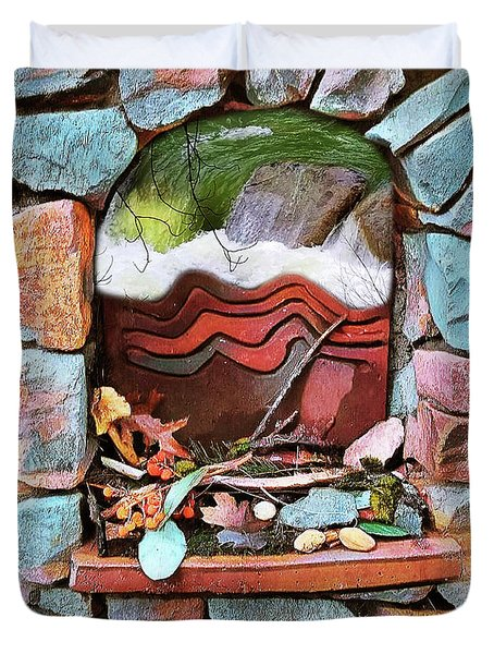 Deer Creek Altar Duvet Cover