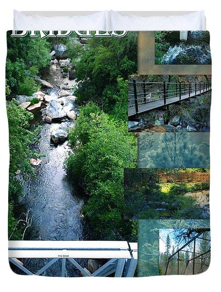 Deer Creek Bridges Duvet Cover