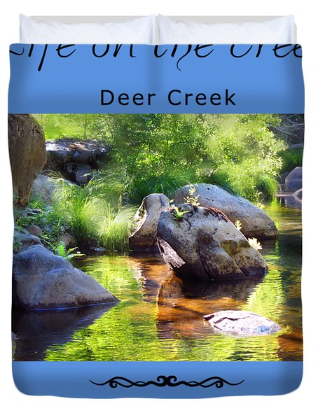Deer Creek Ferns Duvet Cover