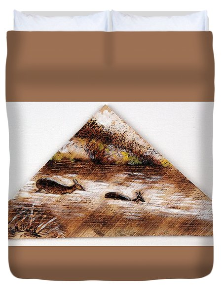 Deer Crossing One Duvet Cover