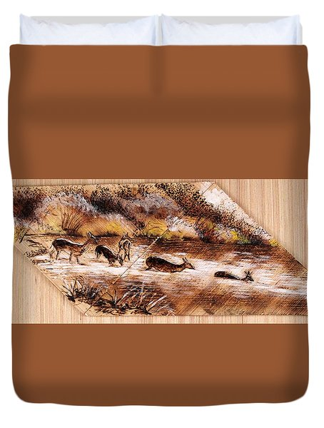 Deer Crossing Duvet Cover