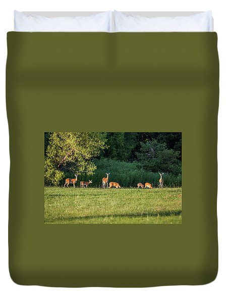 Deer Duvet Cover by Doug Long