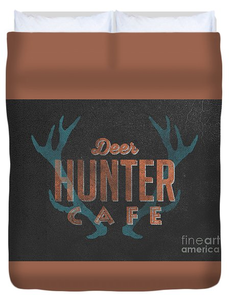 Deer Hunter Cafe Duvet Cover by Edward Fielding