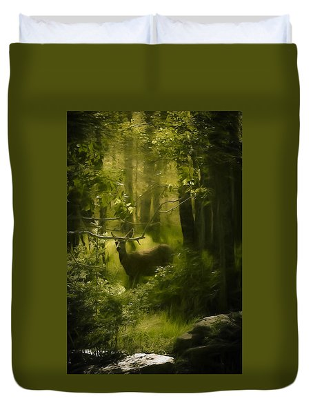 Deer In The Woods - 2 Duvet Cover