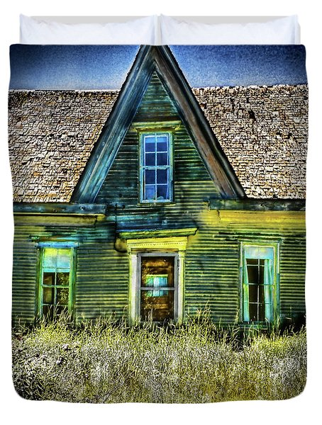 Deer Isle Haunted House Duvet Cover