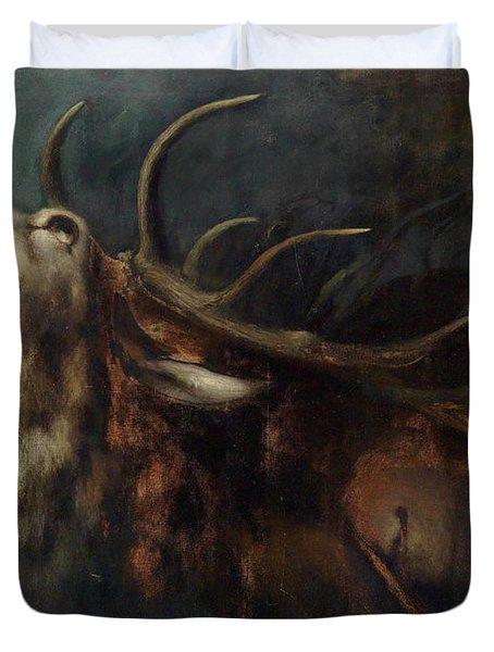 Dying Deer Duvet Cover