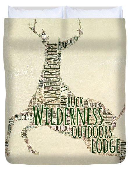 Deer Leaping Duvet Cover