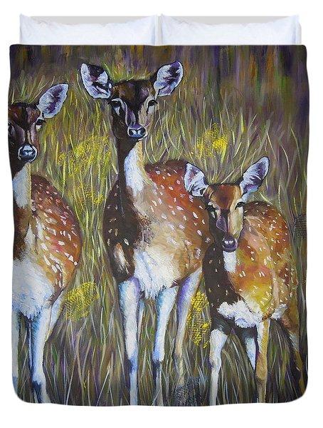 Deer On Guard Duvet Cover