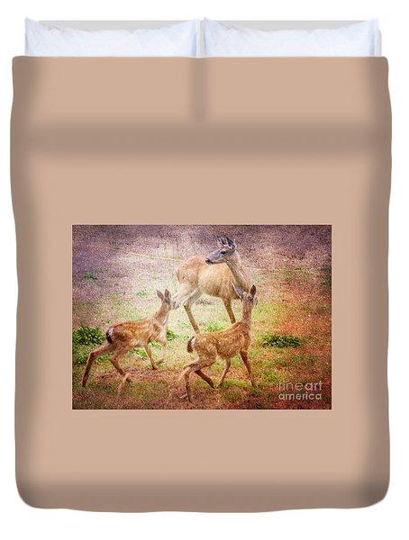 Deer On Vancouver Island Duvet Cover