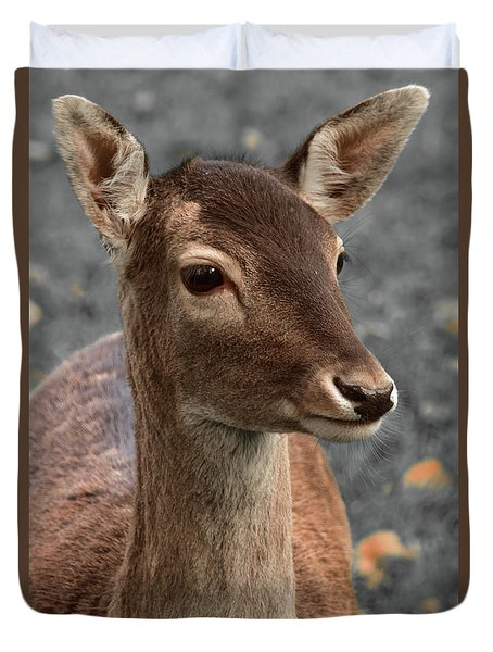 Deer Portrait Duvet Cover