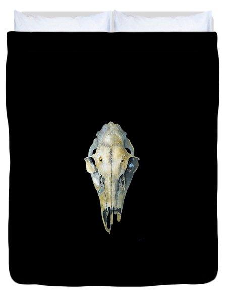 Deer Skull Aura Duvet Cover