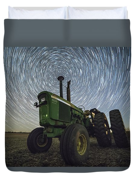 Duvet Cover featuring the photograph Deere Trails  by Aaron J Groen