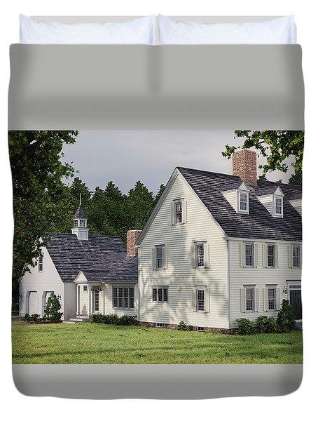 Deerfield Colonial House Duvet Cover