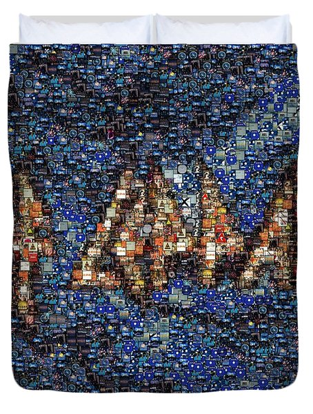 Def Leppard Albums Mosaic Duvet Cover by Paul Van Scott