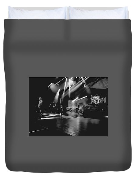 Def Leppard At Saratoga Springs 2 Duvet Cover by David Patterson