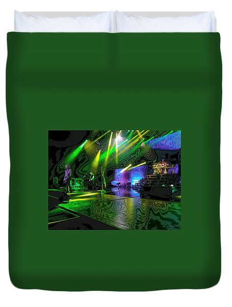 Def Leppard At Saratoga Springs 3 Duvet Cover by David Patterson