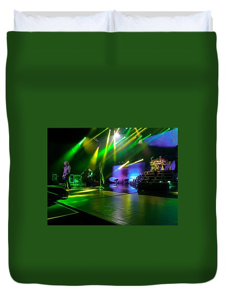 Def Leppard At Saratoga Springs Duvet Cover by David Patterson