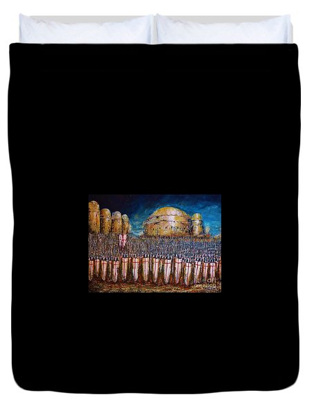 Defence Of Jerusalem Duvet Cover