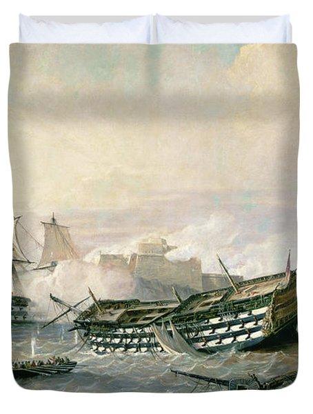 Defence Of The Havana Promontory  Duvet Cover by Rafael Monleon y Torres