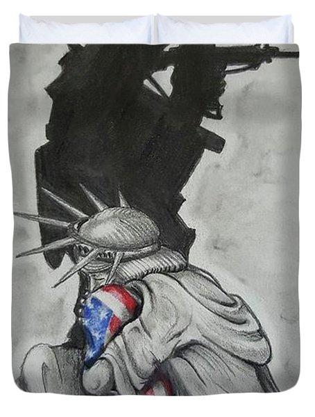 Defending Liberty Duvet Cover