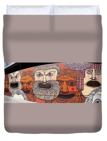 Defiant Graffitti Duvet Cover