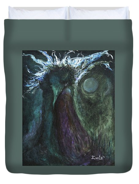 Deformed Transcendence Duvet Cover by Christophe Ennis