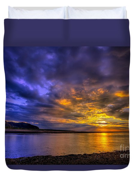 Deganwy Sunset Duvet Cover by Adrian Evans