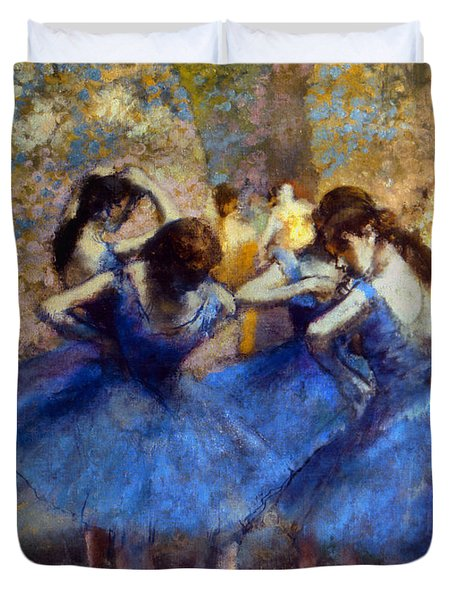 Degas: Blue Dancers, C1890 Duvet Cover by Granger