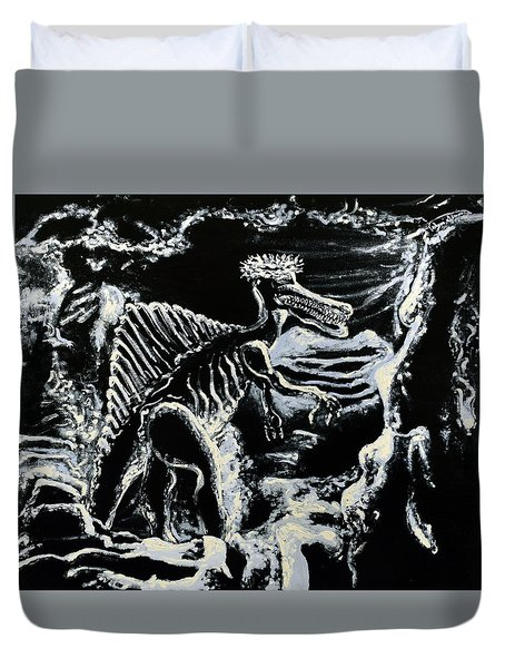 Deinos Sauros    Duvet Cover by Ryan Demaree