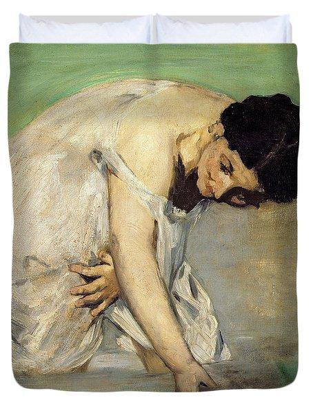 Dejeuner Sur Lherbe Duvet Cover by Edouard Manet