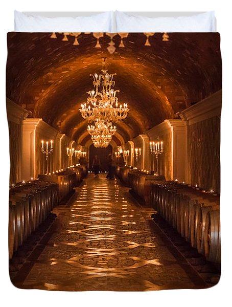 Del Dotto Wine Cellar Duvet Cover