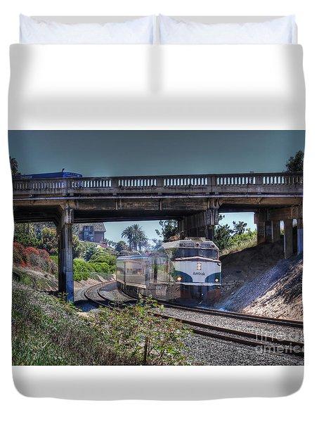 Del Mar Amtrak Duvet Cover