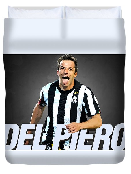 Del Piero Duvet Cover by Semih Yurdabak