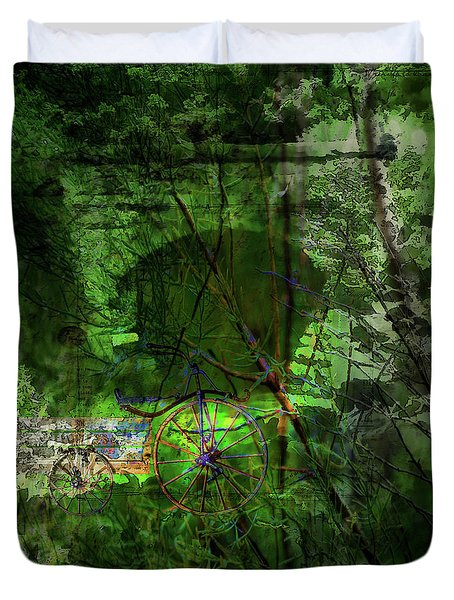 Duvet Cover featuring the digital art Delaware Green by Richard Ricci