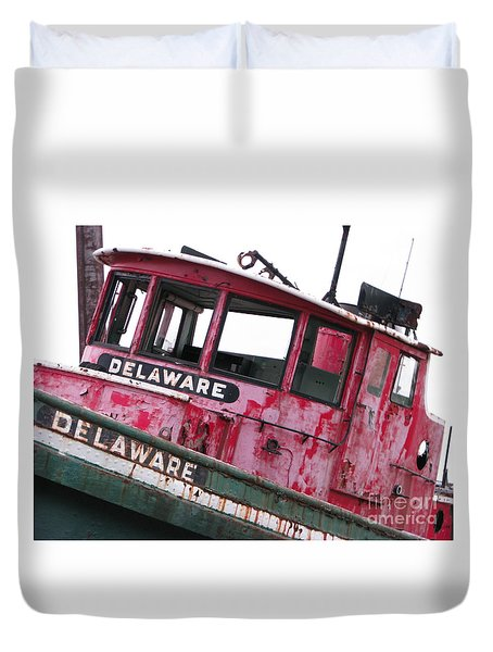 Duvet Cover featuring the photograph Delaware by Michael Krek