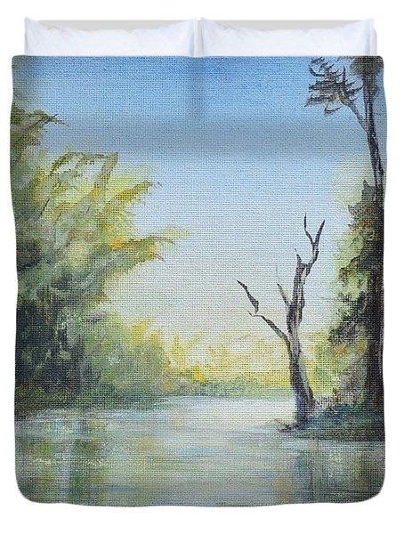 Delaware River  Duvet Cover