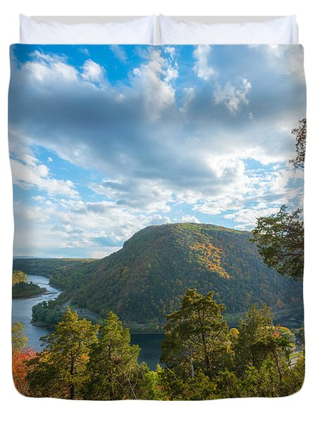 Delaware Water Gap In Autumn Duvet Cover